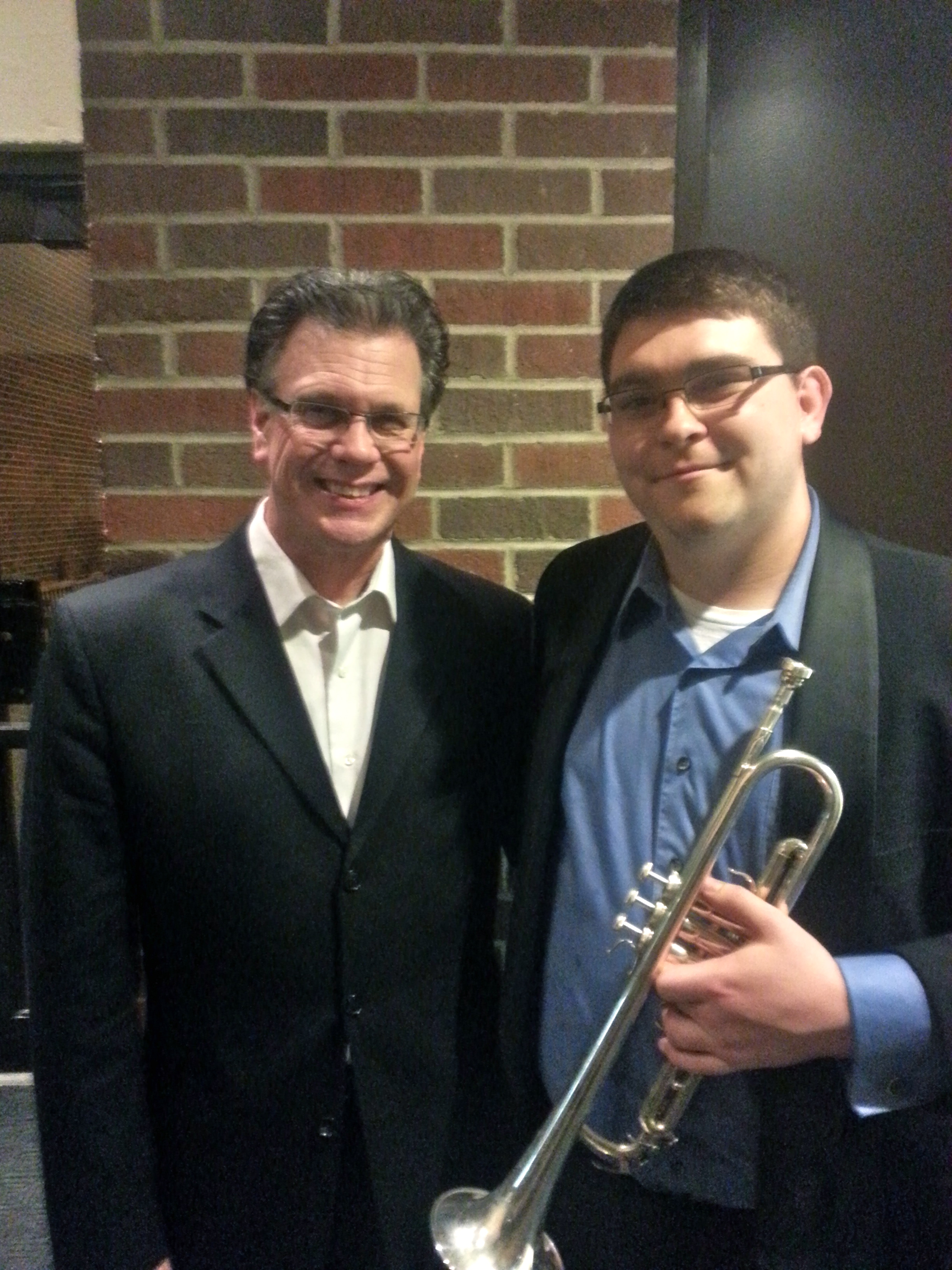 after a concert with Roger Ingram
