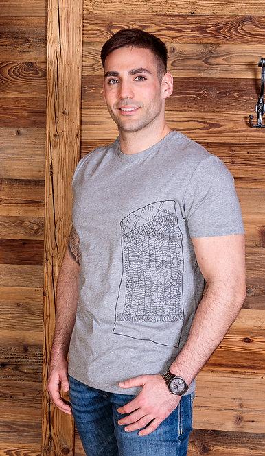 RUNENSTEIN VON RÖK Männer Organic Favourite Shirt - Druck