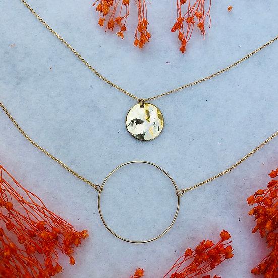 collier double chaîne
