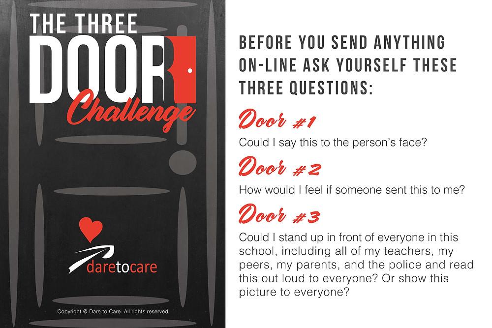 dare to care-three door challenge