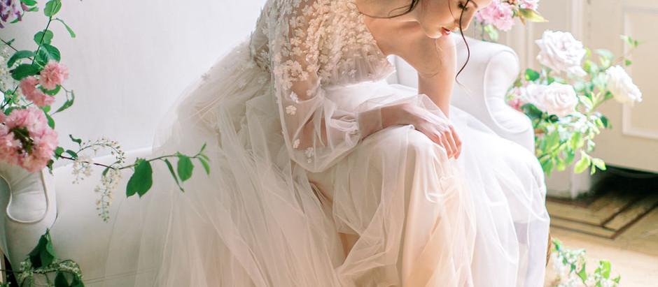 Fine art spring bridal look
