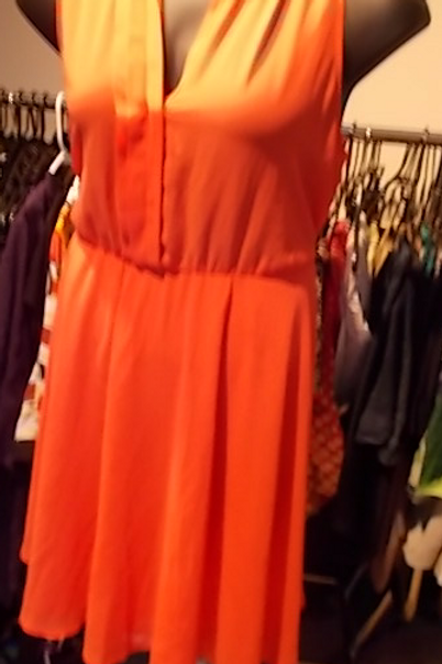 FTF ORANGE SHEER DRESS