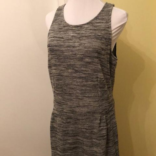 Dark Blue Tiered Jersey Cotton Stretch Sleeveless CASUAL MINI DRESS