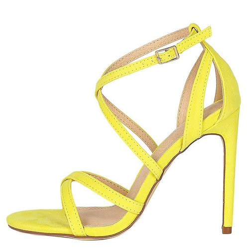 Strap Open Toe Cut Out Stiletto Heel