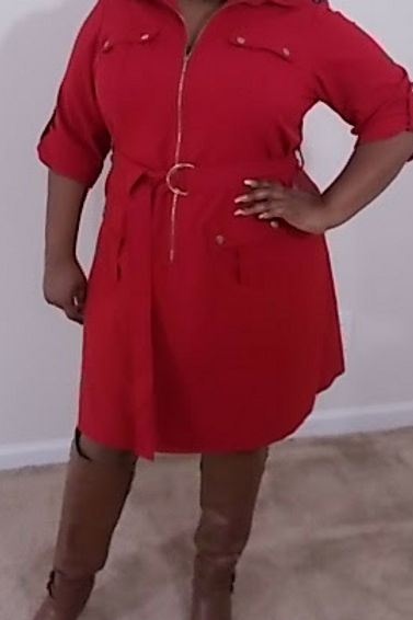 Red Coat Dress