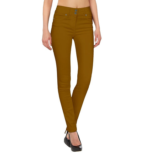 Tobacco Colored Stretch Jeans