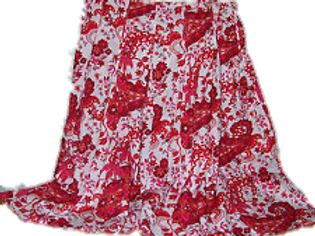 Red/Pink/White Flare Skirt