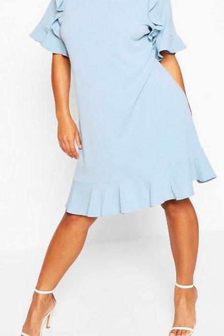 Plus Ruffle Detail Shift Dress