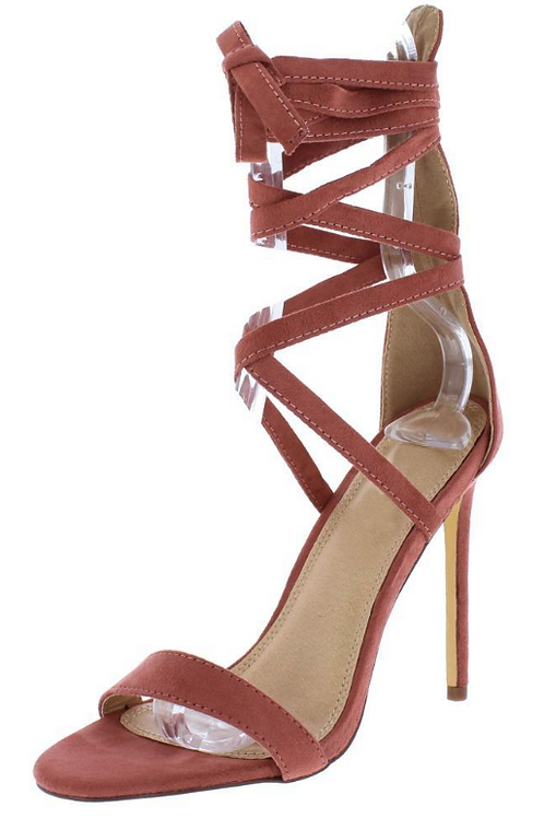 Strappy Ankle Wrap Stiletto Heel