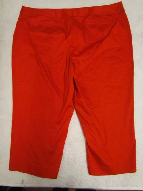 RED CAPRI SATEEN PANTS