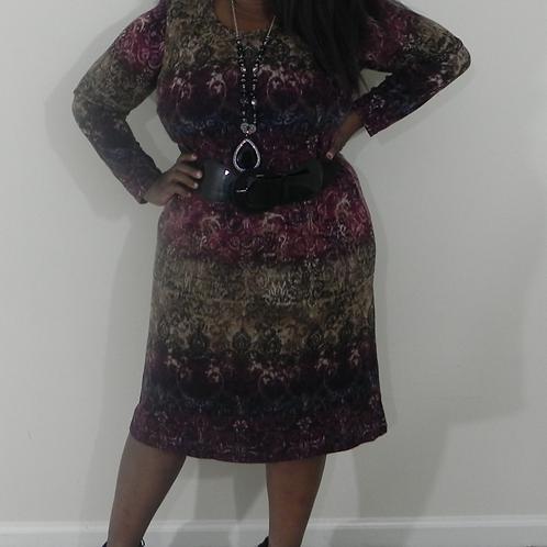 BURUNDY MULTI  DRESS