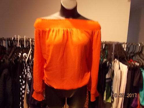 Orange off Shoulder Blouse
