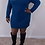 Thumbnail: TEAL COW NECK SWEATER DRESS