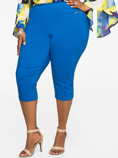 CROPPED ULTRA-STRETCH PANTS
