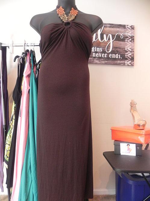 Beaded Halter - Tie Neck Dress