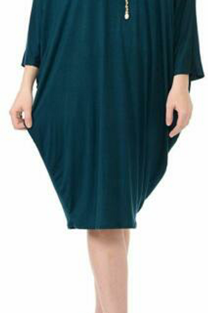 Side Draped Dolman Sleeves