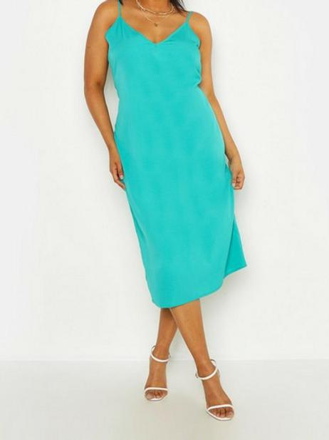 Woven Cami Midi Dress