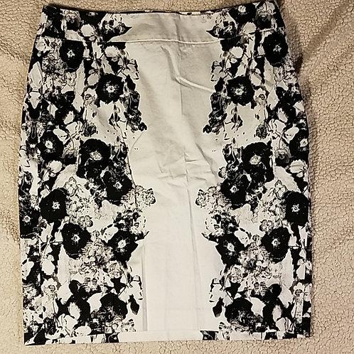 Black & White Floral Skirt
