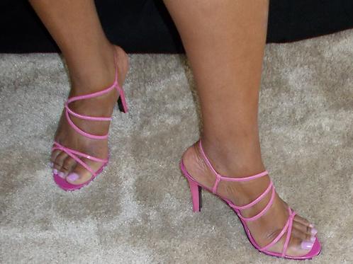 Fuschia Strappy High Heel