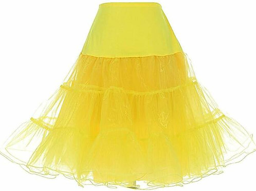 Vintage Yellow Petticoat Skirt Tutu