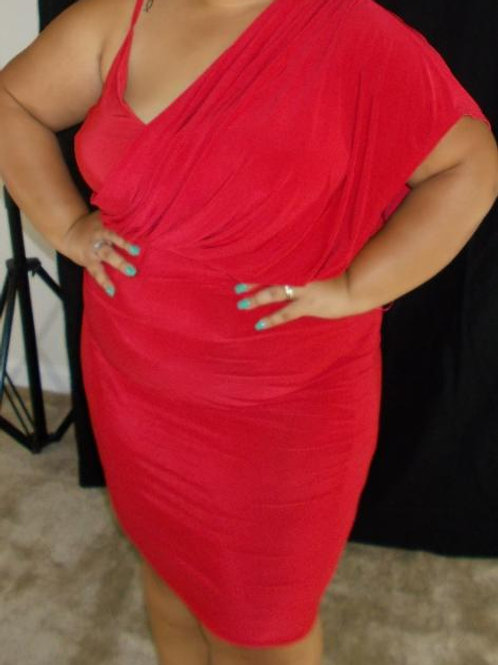 Red One Shoulder Dress