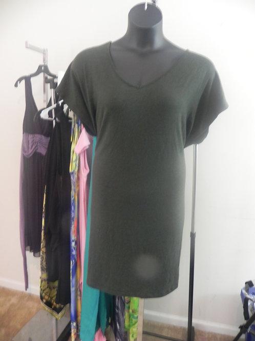 DARK GREY V-NECK TSHIRT DRESS