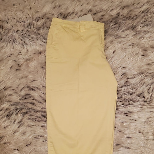 YELLOW SIGNATURE CHINO CAPRI