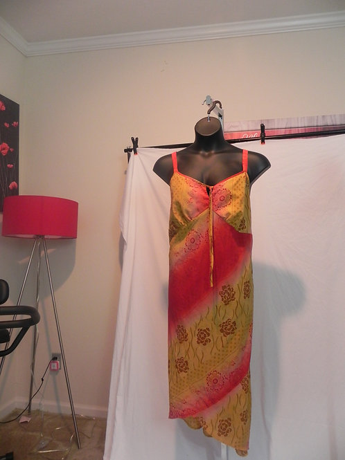 YELLOW & RED SPAGHETTI STRAP SUN DRESS