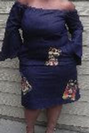 Blue Jean Patch Work Dress