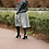 Thumbnail: Blk/Grey with leather accent front DRESS