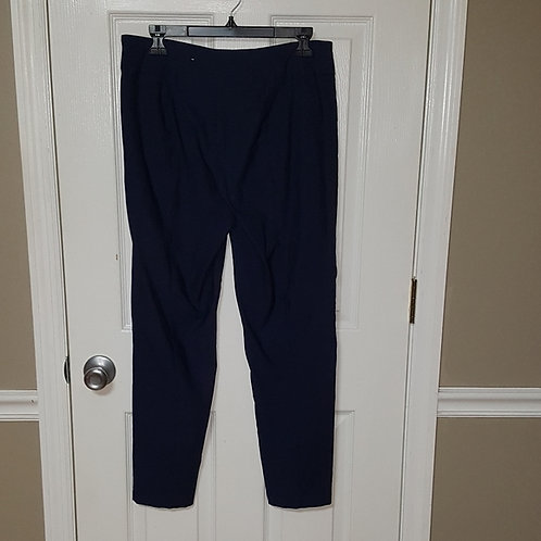 NAVY BLUE FRONT VPLEATED PANTS