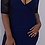 Thumbnail: Blue and Blk bodycon Dress