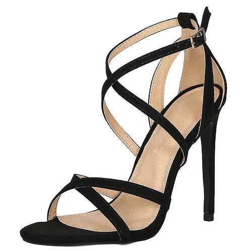 Strap Open Toe Cut Out Stiletto Heel
