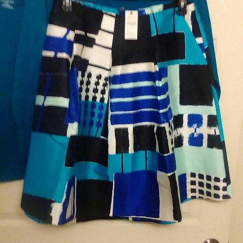 Blue, Black &Tel Skirt