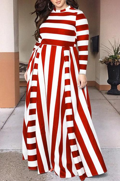 Stripes Long Maxi Dress