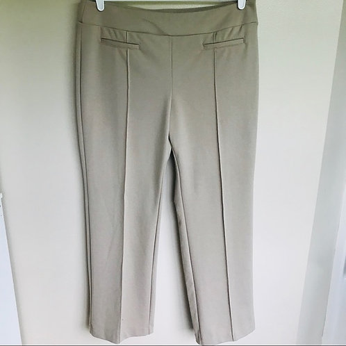 TAN FRONT PLEATED PANTS