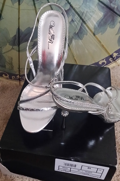 Silver Strappy Shoes