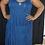 Thumbnail: Dark Blue Tiered Jersey Cotton Stretch Sleeveless CASUAL MINI DRESS