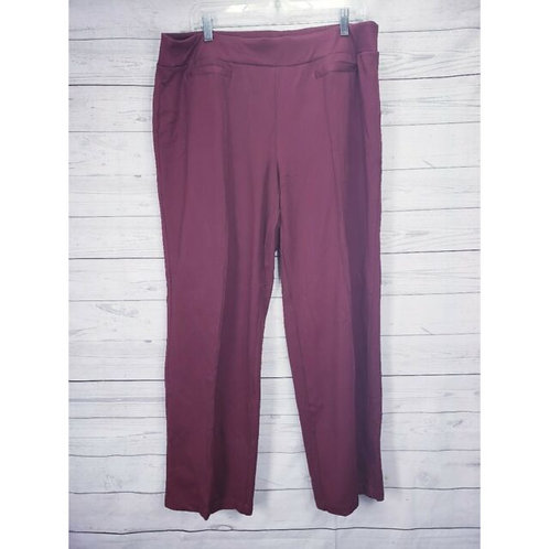 MAROON FRONT PLEATED PANTS