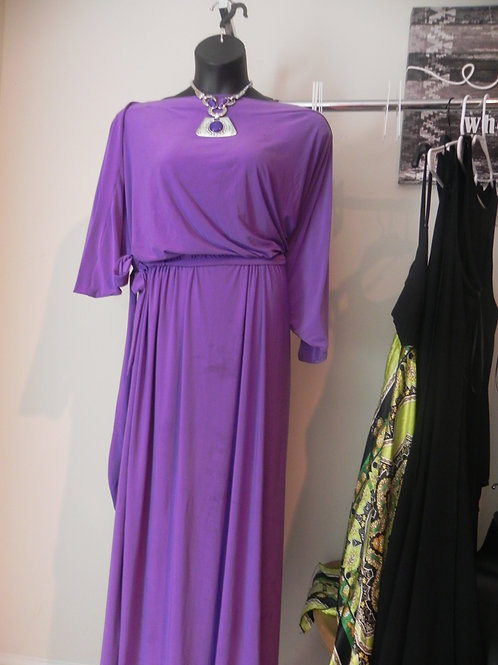 Batwing Sleeve Evening Casual Gown