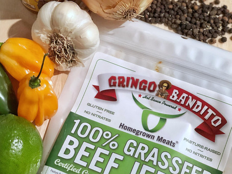"Homegrown Meats releases new Gringo Bandito ""Original Red Sauce"" infused beef jerky"