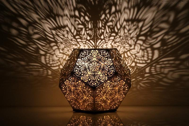 Dillon Forte Dodecahedron Gold Table Light