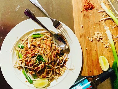 Vegan Pad Thai with The Woolf's Kitchen Tamarind Ketchup