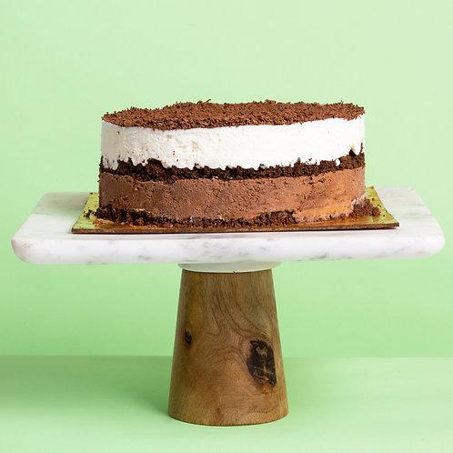 Vanilla Chocolate Vegan Ice Cream Cake