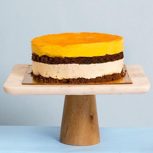 Vanilla Mango Vegan Ice Cream Cake