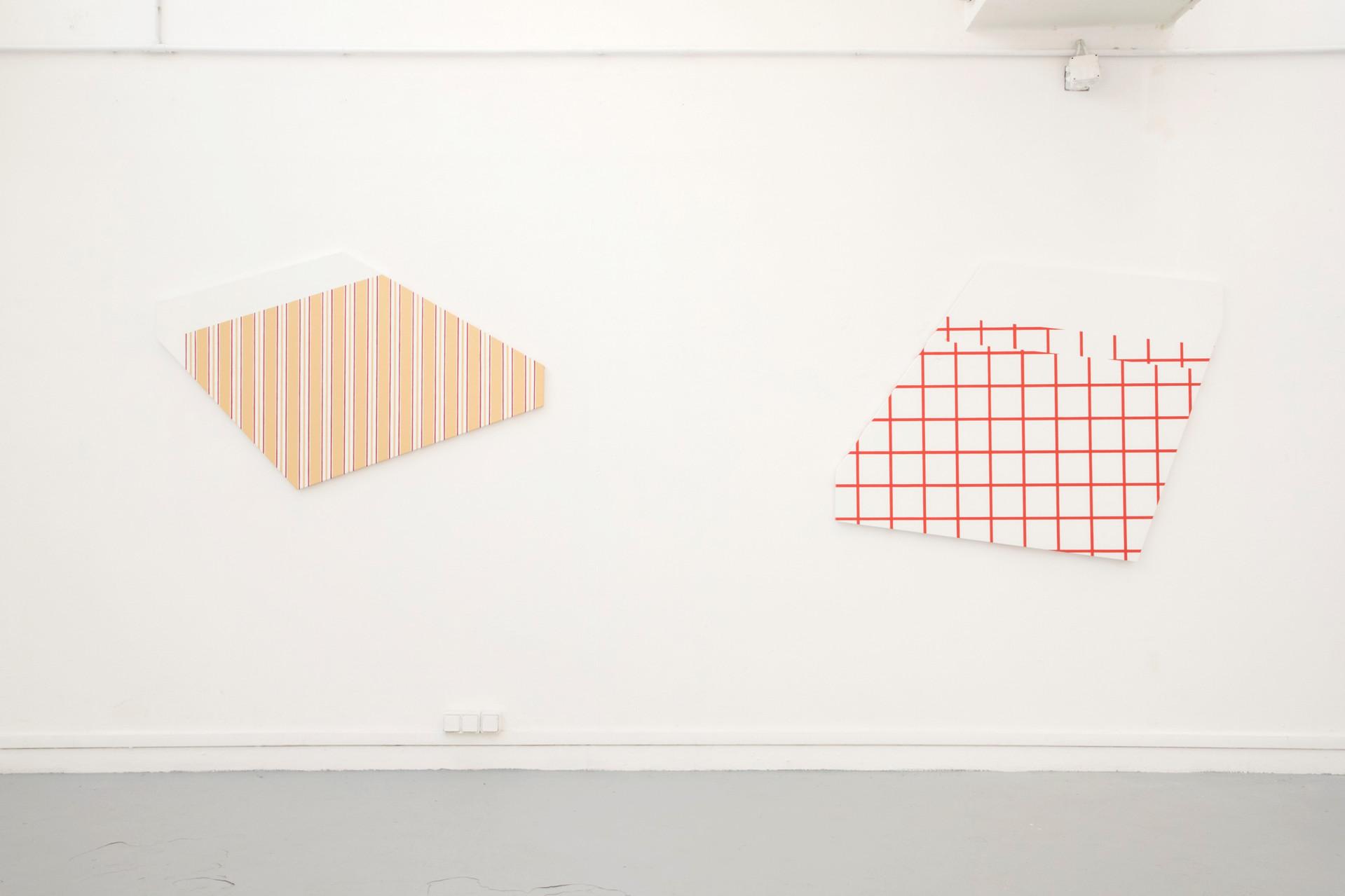 sheets #1 et #4 dans l'exposition Still life, 2019