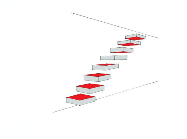 Judd stairs (colorisé), 2017
