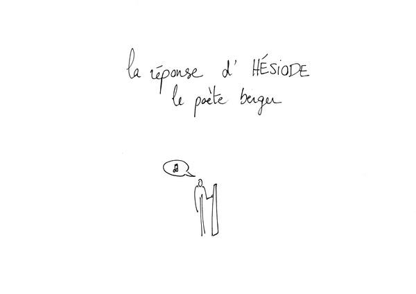 Hésiode, stylo sur papier, A4, 2015