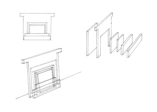 dessin préparatoire, encre sur papier, 24 x 30 cm, 2017