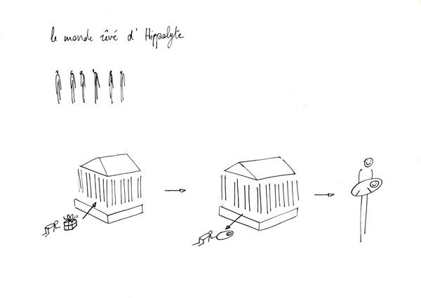 Hippolyte, stylo sur papier, A4, 2015